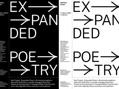 Release-Event »Expanded Poetry«